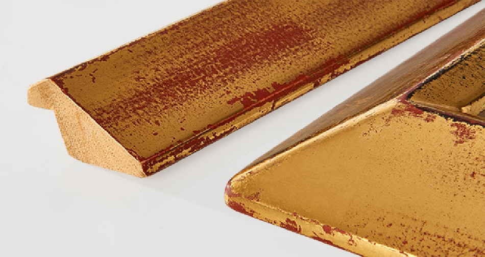 GOLD COLLECTION: Canaletto, rouge doré 40x22 mm