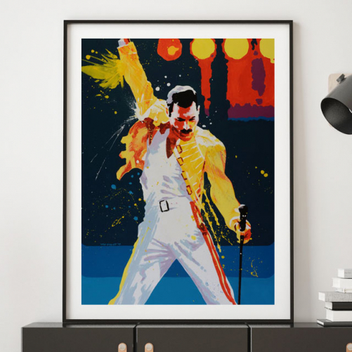 Freddy Mercury par Pavel van Golod en décoration murale