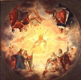 Glory of St. Genevieve, study for the cupola of the Pantheon