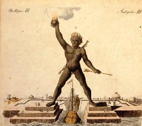 Colossus of Rhodes , from: Bertuch 1792