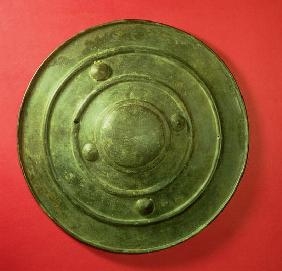 Wittenham Shield, from Long Wittenham, Oxfordshire, Late Bronze Age, c.1200 BC (bronze)