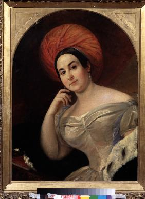 Portrait of the actress Ekaterina Semyonova (1786-1849)