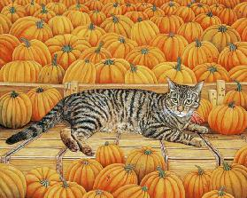The Pumpkin-Cat, 1995 (acrylic on panel)