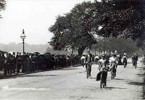 Cycling in Hyde Park, c.1910