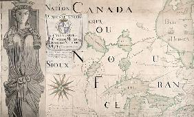 Map of Nouvelle-France (Canada) 1699 (see also 159120)