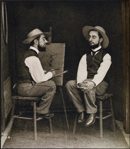 double portrait of toulouse lautrec fro french photographer. Black Bedroom Furniture Sets. Home Design Ideas