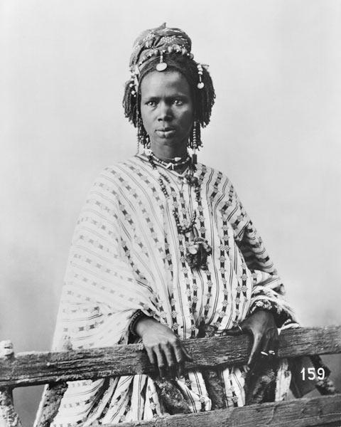 Senegalese woman, c.1900 (b/w photo)