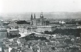 View of Prague, late 19th century (b/w photo)