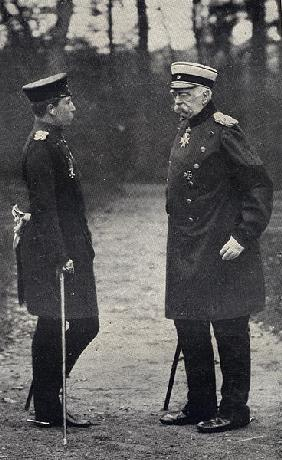 Otto Von Bismarck (1815-1898) German Chancellor and Kaiser Wilhelm II (1859-1941) Emperor of Germany
