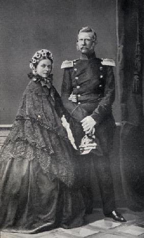 The Emperor (1831-88) and Empress (1840-1901) Frederick of Germany (b/w photo)