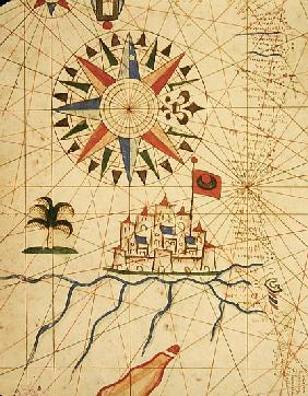 Egypt, the River Nile and Cairo, from a nautical atlas, 1646(detail from 330936)