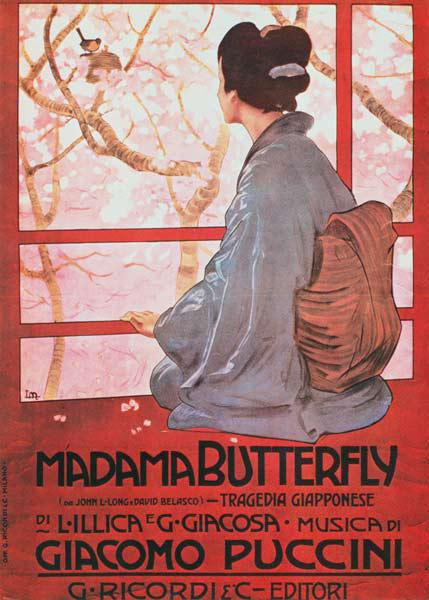 Frontispiece of the score sheet for ''Madame Butterfly'' Giacomo Puccini (1858-1924)