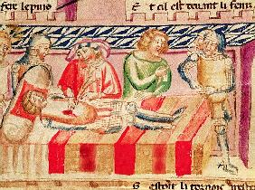 Operation on a wounded soldier, from the ''Roman de Troie''