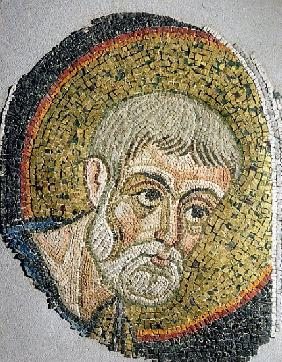 St. John the Baptist: Fragment of a mosaic from the Basilica Ursiana, the former Cathedral of Ravenn