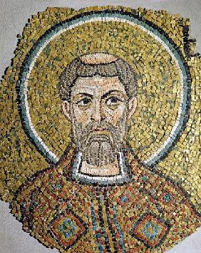 St. Ursicinus: Fragment of a mosaic from the Basilica Ursiana, the former cathedral of Ravenna (mosi