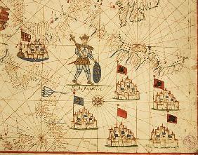 The Kingdom of France, from a nautical atlas, 1646 (ink on vellum)