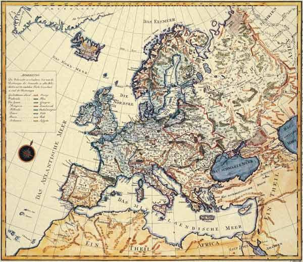 New map of Europe