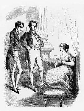 Rastignac introduced to Madame de Nucingen, illustration from ''Le Pere Goriot'' Honore de Balzac (1