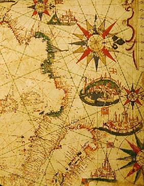 The south coast of France, Italy and Dalmatia, from a nautical atlas, 1651(detail from 330924)