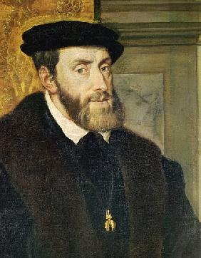 Detail of Seated Portrait of Emperor Charles V (1488-1576) 1548 (see 158620)