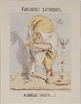 Satirical Fantasies, caricature of Adolphe Thiers (1797-1877)
