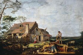 Landscape with Peasants Resting, Tobias and the Angel