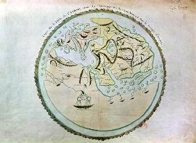 Map of the world, copied by Doctor Vincent for his book on the journey of Arrian (c.95-180) (engravi