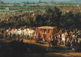 The Entry of Louis XIV (1638-1715) and Marie-Therese (1638-83) of Austria in to Arras, 30th July 166