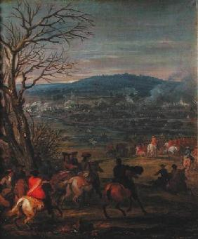 Louis XIV (1638-1715) in Battle near Mount Cassel, 11th April 1677