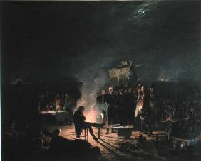 Bivouac of Napoleon I (1769-1821) on the Battlefield of the Battle of Wagram, 5th-6th July 1809