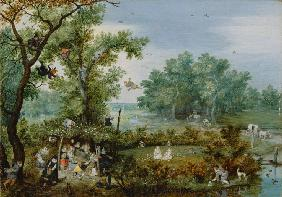 A Merry Company in an Arbor