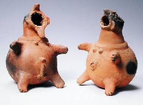 Male and Female Soul Vessels, Matakam Culture, Cameroon  9:Mbulom; vessel; gaping mouth; zoomorphic;