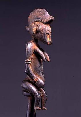 Senufo Staff with Sitting Figure from Ivory Coast