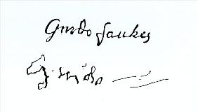 Signature of Guy Fawkes (1570-1606)