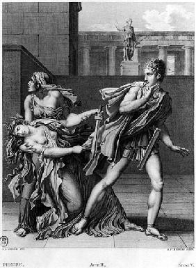 Phaedra, Oenone and Hippolytus, illustration from Act II Scene 5 of ''Phedre'' Jean Racine (1639-99)