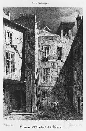 The House of Heloise and Abelard, illustration from ''Paris historique'',
