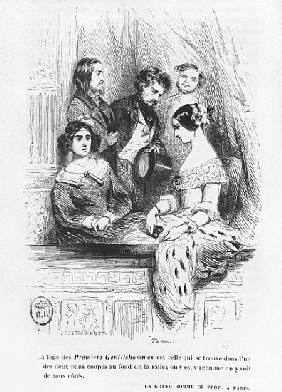 The Premiers Gentilhommes theatre box, illustration from ''Les Illusions perdues'' Honore de Balzac,