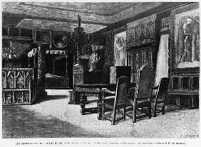 Homes of Victor Hugo, the lounge at Hauteville house in Guernsey, the armchair of the ancestor; engr