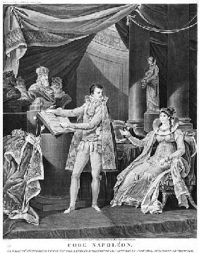 His Majesty the Emperor and King Napoleon I (1769-1861) showing the Empress-Queen Marie-Louise (1791