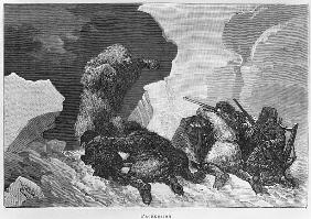 Attack, illustration from ''Expedition du Tegetthoff'' Julius Prayer (1841-1915)