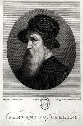 Portrait of Benvenuto Cellini (1500-71) ; engraved by Rafaello Morghen (1758-1833) 1822