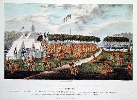 View of the Great Treaty Held at Prairie du Chien, Wisconsin, September 1825, from ''The Aboriginal