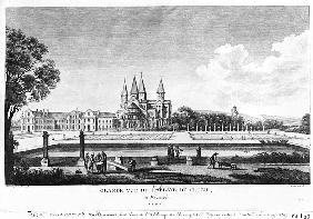 View of Cluny Abbey, from ''Voyage Pittoresque de la France'' ; engraved under direction of Francois