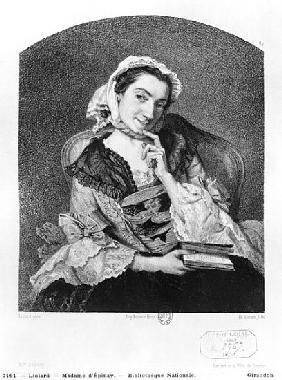 Louise Tardieu d''Esclavelles, known as Madame d''Epinay (1726-83) ; engraved by Henri Charles Antoi