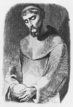 Abelard as monk at Saint-Gildas-de-Rhuys, illustration from ''Lettres d''Heloise et d''Abelard''; en