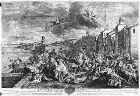 The plague of 1720 in Marseilles; engraved by Simon Thomassin (1655-1733) 1727