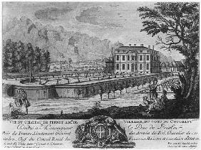 Voltaire''s house in Ferney, west side; engraved by Francois, Maria, Isidore Queverdo (1748-97)