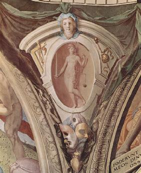 Allegories Of The Cardinal Virtues. Frescoes In The Chapel Of Eleonora Da Toledo