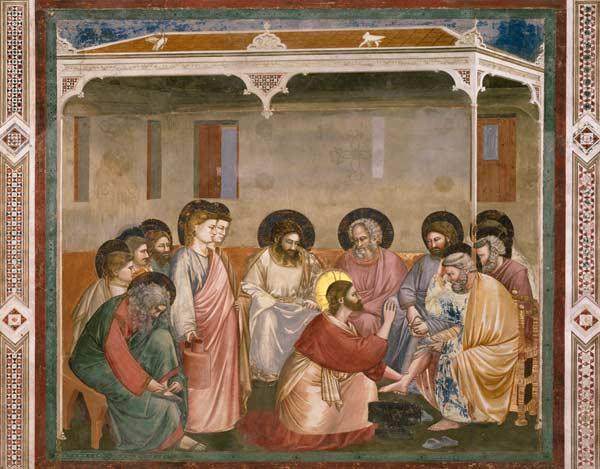 Giotto, Le Lavement des pieds - Artist Artist en reproduction imprimée ou  copie peinte à l'huile sur toile