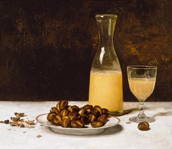 Still Life with Wine and Chestnuts